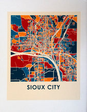 Load image into Gallery viewer, Decorative Sioux City Maps for Home Decor
