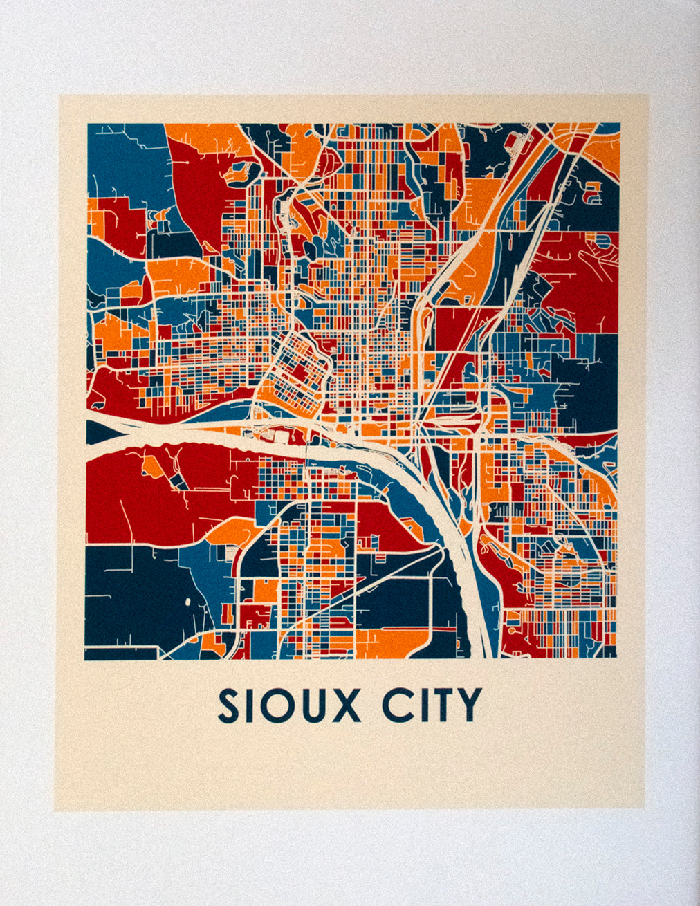 Decorative Sioux City Maps for Home Decor