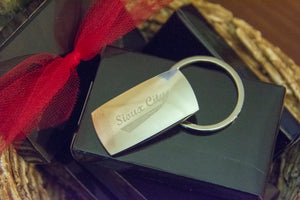 Silver Heavy Weight Sioux City Key Ring