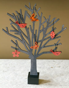 "Wooden ""Seasonless Trees"" and Ornaments Home Decor"