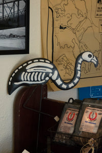 Skeleton Flamingo for Halloween