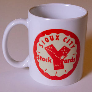 Sioux City Stockyards Log Coffee Mug