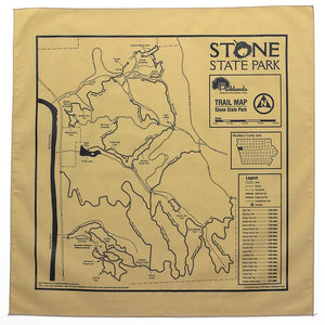 Stone State Park Trail Map Bandana, Iowa