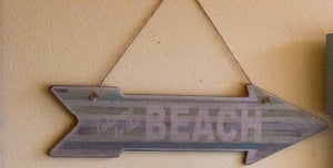 Take Me to the Beach Wooden Sign Home Decor CLOSEOUT
