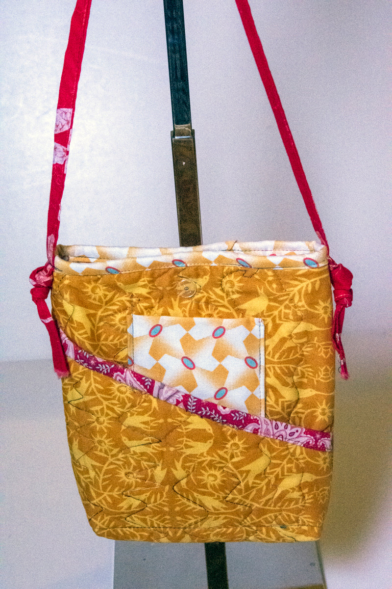 Cross Body Quilted Hand Made Bags with 2 exterior pockets CLOSEOUT