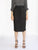 Black Pencil Skirt with Tie Belt