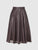Knee length glossy earth color flared skirt from the RÉZO women's collection