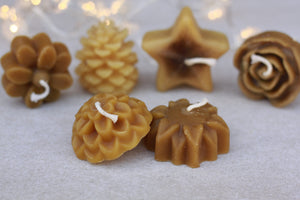 Pure Unscented Beeswax Candles - Hawaiian Honey AT&S