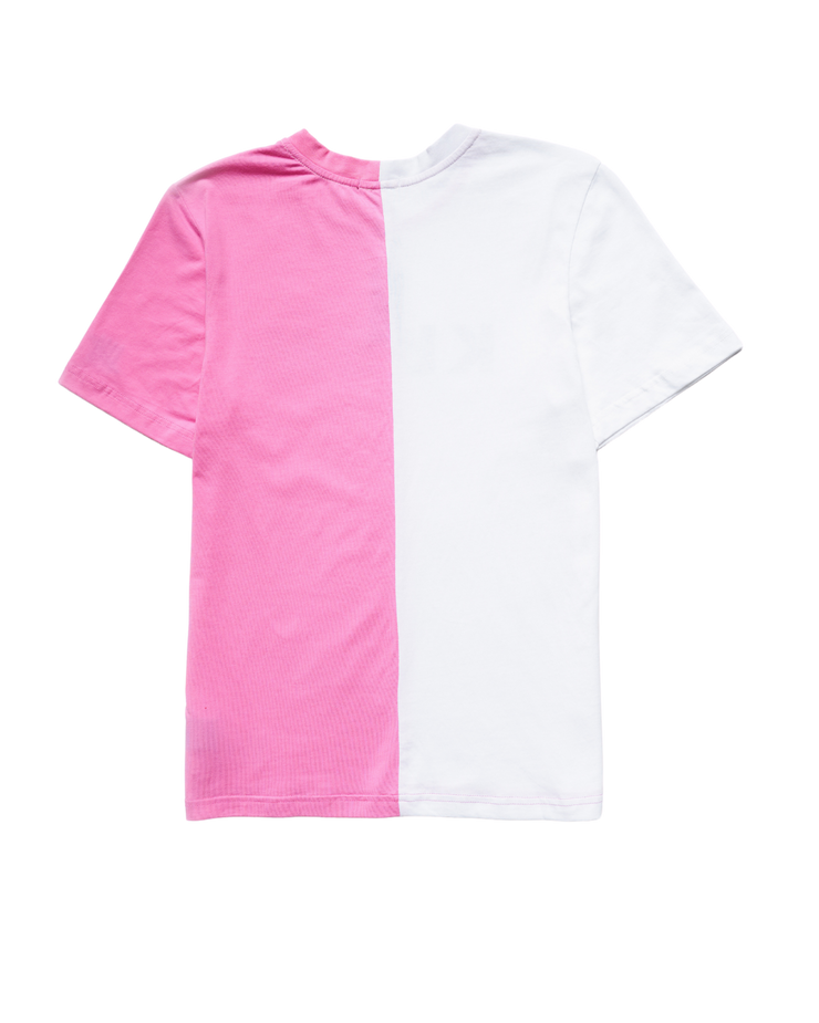 COLOR BLOCK ME T-SHIRT - PINK/WHITE