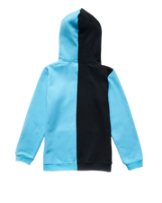 COLOR BLOCK ME HOODIE - BLUE/BLACK