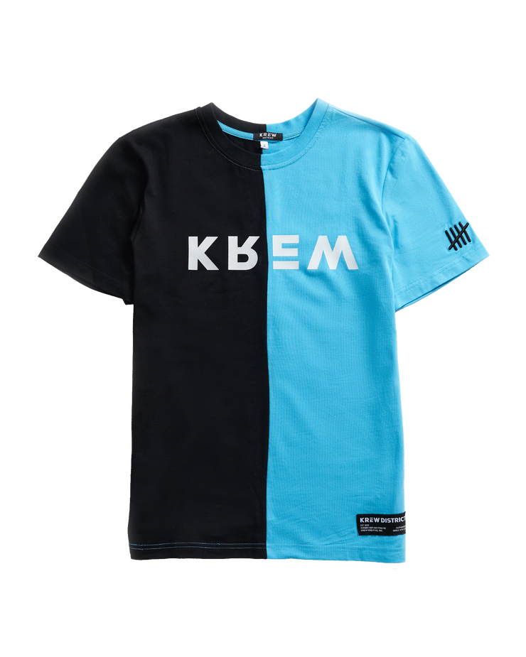 COLOR BLOCK ME T-SHIRT - BLUE/BLACK