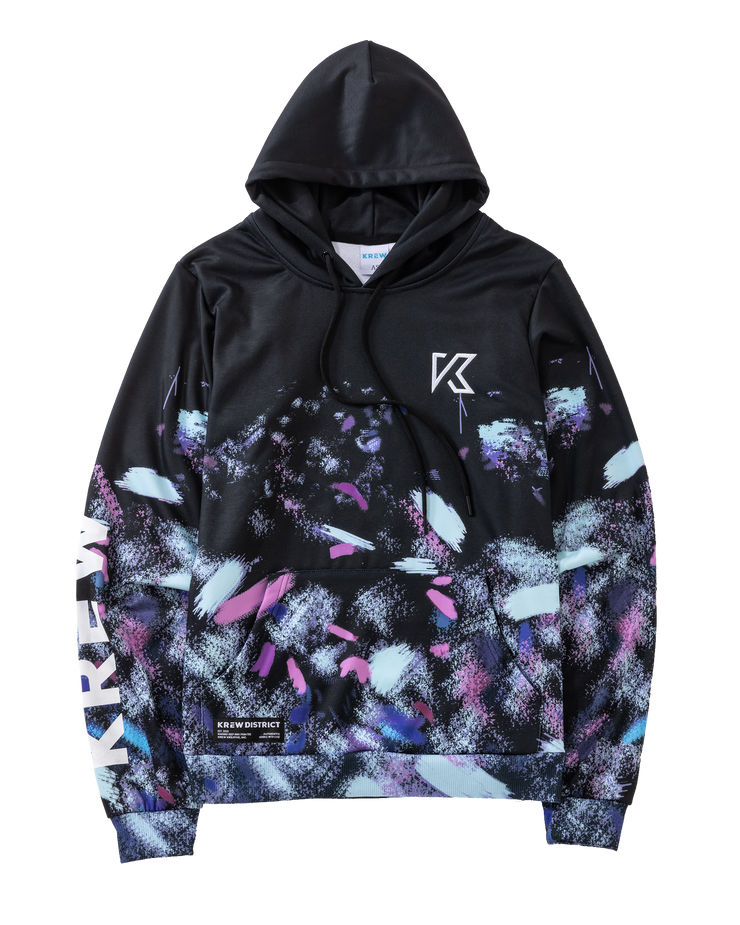 ALL OVER GALAXY BRUSH PAINT HOODIE