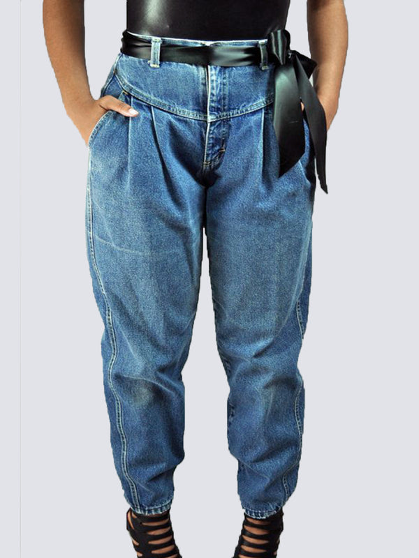 Solid Shift Vintage Paneled Pants