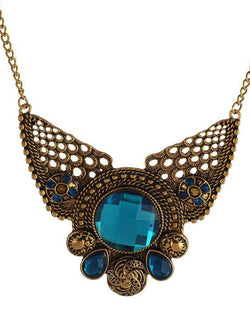 Blue Casual Alloy Necklaces