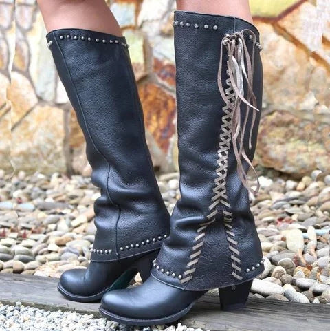 Women Winter Tassel Knee-high Boots