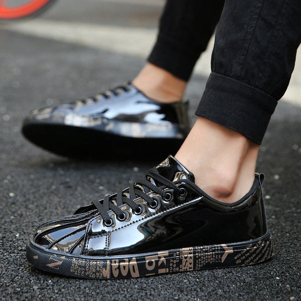 All Season Flat Heel Lace-up Sneakers