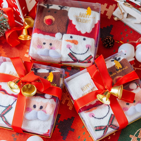 Christmas Gift Box - 4 pairs of Thick Socks - Gift Package
