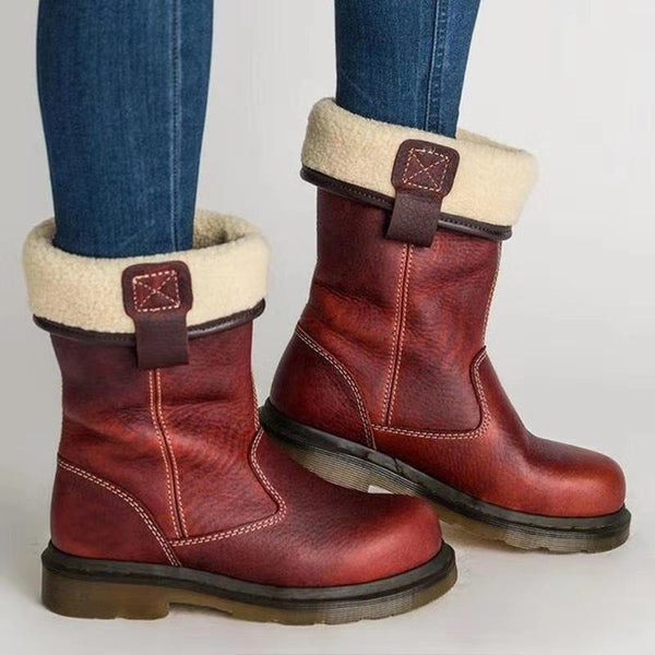 Double-sided Pu Casual Boots