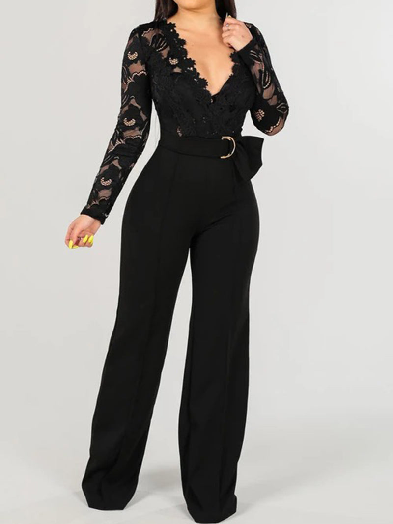 Bodycon Sexy Lace-Up Jumpsuits