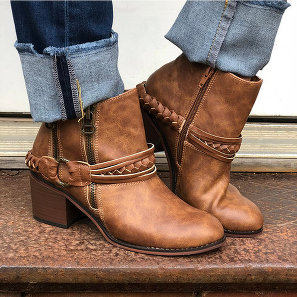 Block Heel Fall Boots