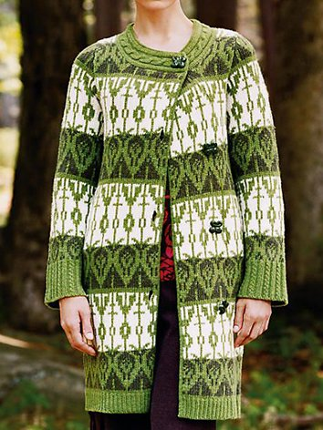 Green Shift Knitted Long Sleeve Sweater