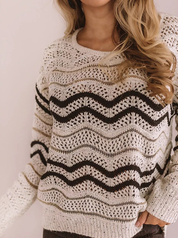 Shift Crew Neck Long Sleeve Sweater