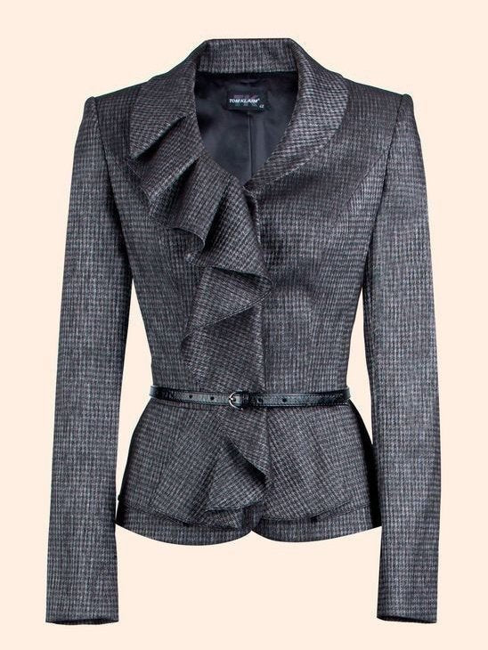 Stacked collar waist blazer
