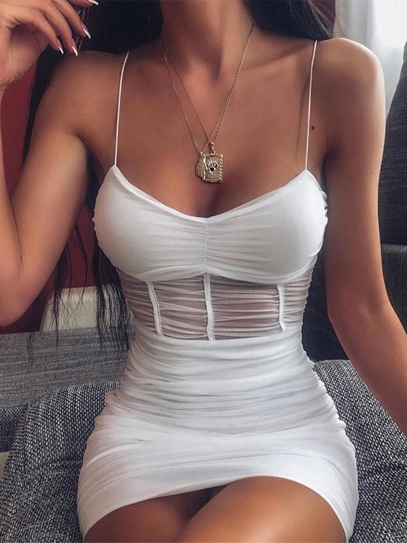 See-through Mesh Cami Dress