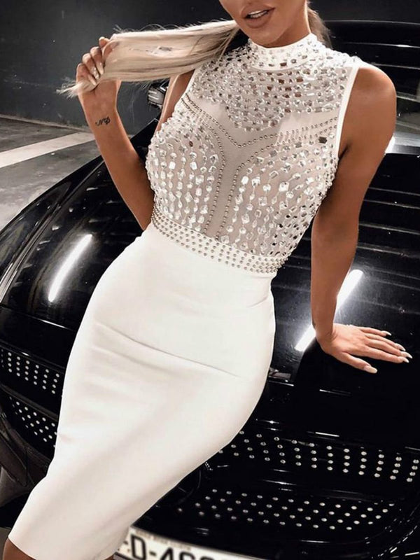 White Sleeveless Sexy Dresses