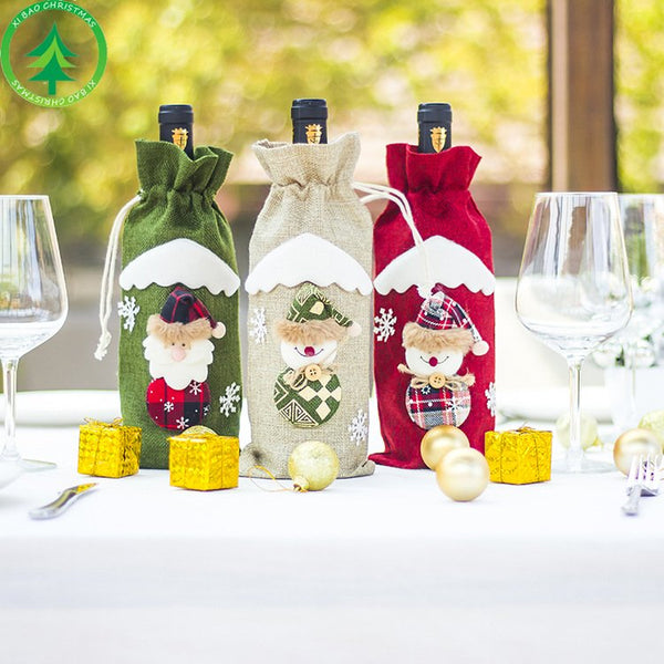 Christmas wine set