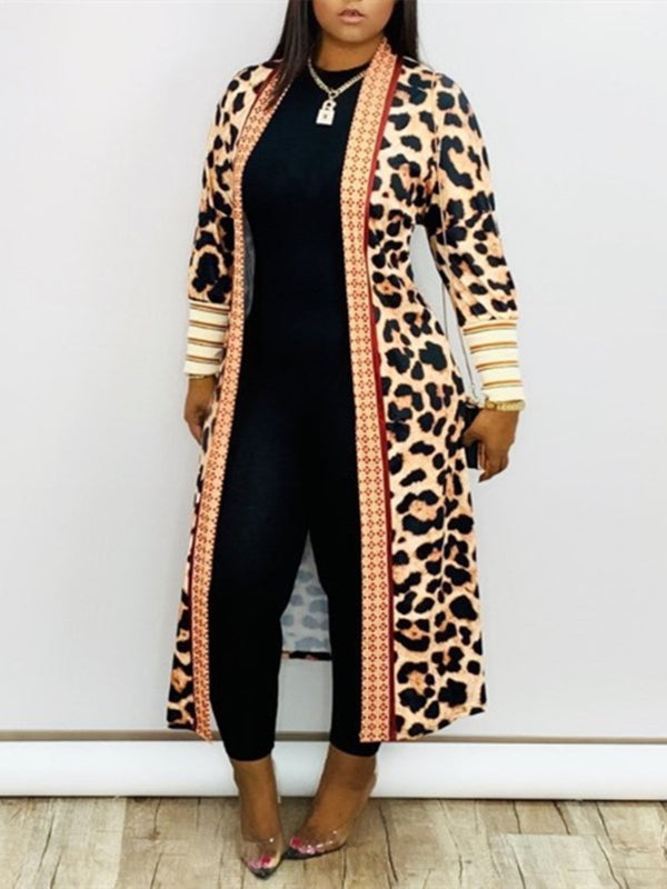 Black Friday Cyber Casual Leopard Printed Cardigan