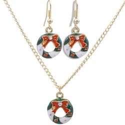 Green Snowflake Jewelry Sets