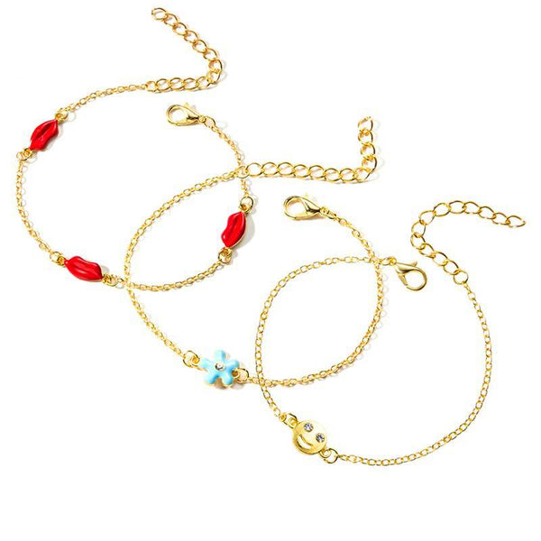 Golden Elegant Alloy Anklets