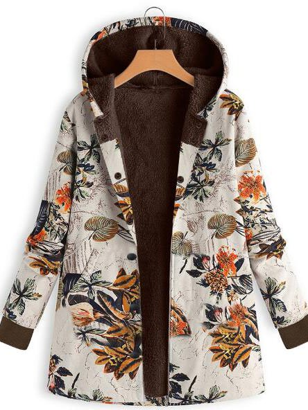 Floral Long Sleeve Casual Outerwear