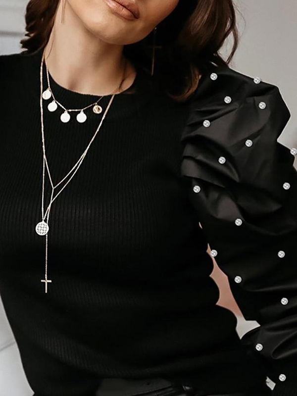 Black Casual Sheath Sweater