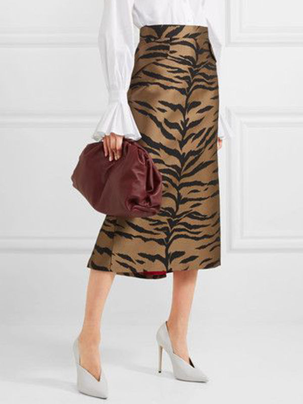 Printed Casual A-Line Skirts