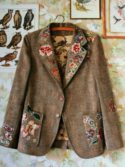 Brown Vintage Cotton-Blend Outerwear