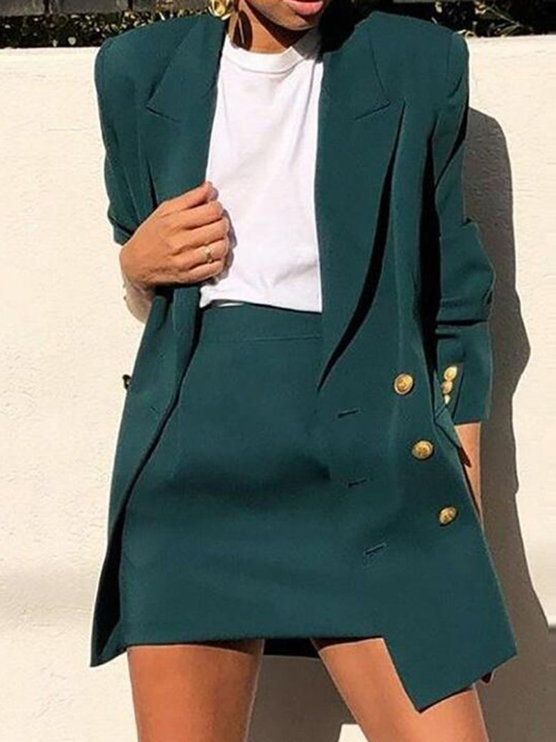 Dark Green Lapel Shift Work Suits