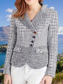 Gray Long Sleeve Sheath Outerwear