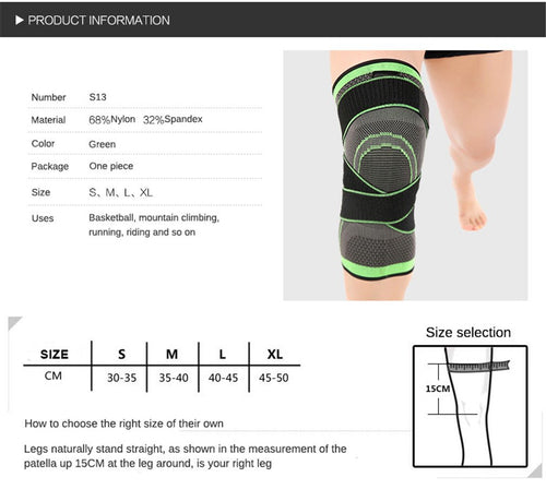 Knee Support Professional Protective Sports Knee Brace - Bella Trading Post