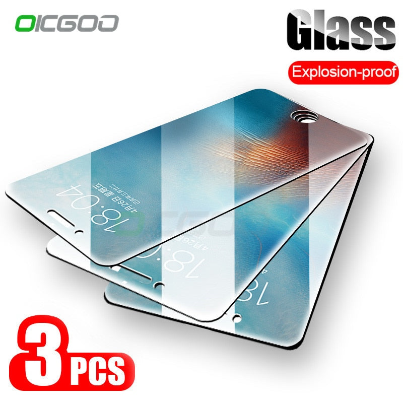 3 Pack Protective Glass On The For iPhone Tempered Screen Protector Glass For iPhone - Bella Trading Post