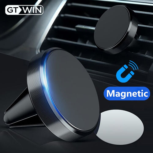 Magnetic Car Phone Holder With Mini Air Vent Clip Mount - Bella Trading Post