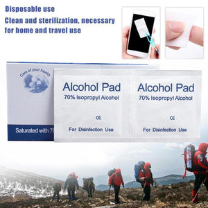 100 Pcs Alcohol Wet Wipe Disposable Antiviral Pad - Bella Trading Post
