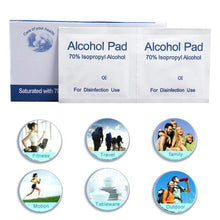 Load image into Gallery viewer, 100 Pcs Alcohol Wet Wipe Disposable Antiviral Pad - Bella Trading Post