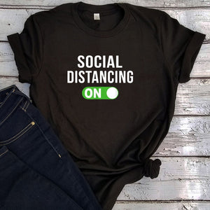 Social Distancing Tees Stay At Home Tee Plus Size Women Tshirt Casual - Bella Trading Post