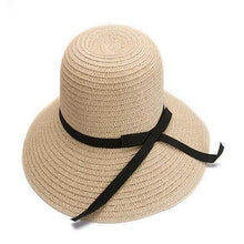 Load image into Gallery viewer, Large Brimmed Straw Sun Hat Summer Sun Hats For Women - Bella Trading Post