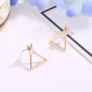 Cute Nickel Square Stud Earrings For Women - Bella Trading Post