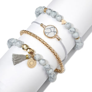 Charm Bracelets for Women 30 Styles Hearts Pearls Waves Crystals and Marble - Bella Trading Post