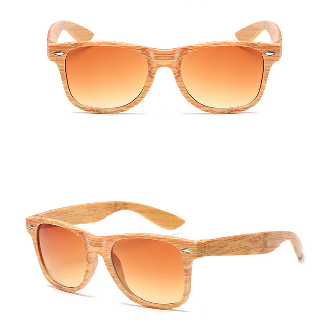 Women's Luxury Sunglasses Imitation Wood Classic Vintage Outdoor Travel - Bella Trading Post