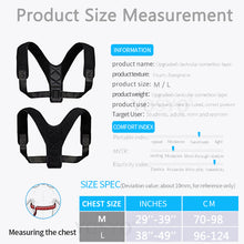 Load image into Gallery viewer, Adjustable Back Posture Corrector Back and Shoulder Posture Correction - Bella Trading Post